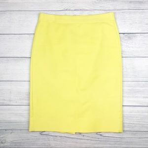 J. Crew Yellow No. 2 Pencil Skirt